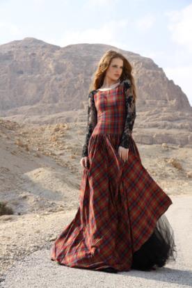 שמלת ערב בסגנון סקוטי