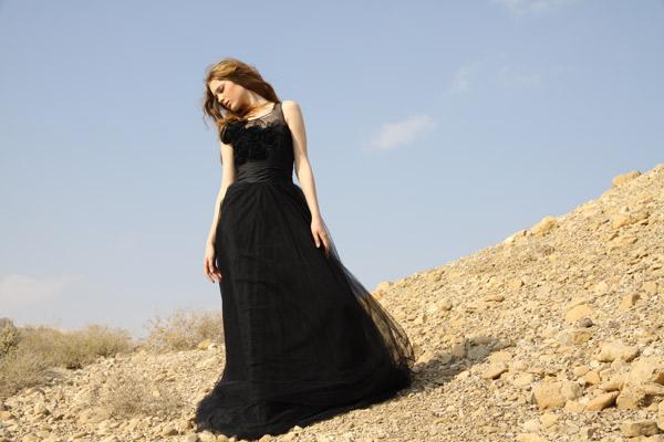 שמלת ערב מקסי שחורה