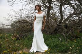 שמלת כלה אלגנטית ללוק נקי