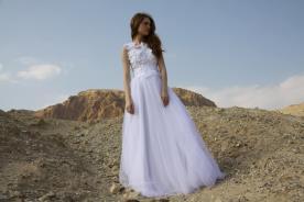 שמלת כלה מובלטת בחלק העליון