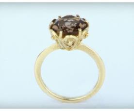 טבעת אירוסין וינטג' אבן חומה