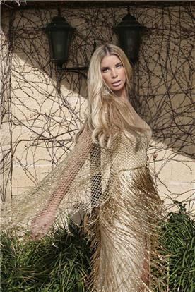 שמלת ערב בצבע זהב