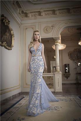 שמלת ערב בגוון כחול
