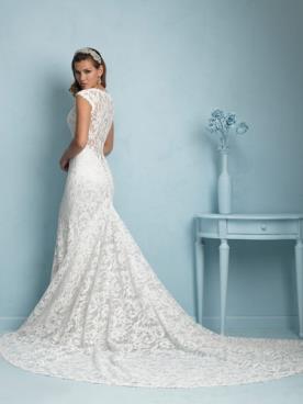 שמלת כלה קלאסית עשויה תחרה