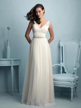 שמלת כלה בגוון שמנת עדין