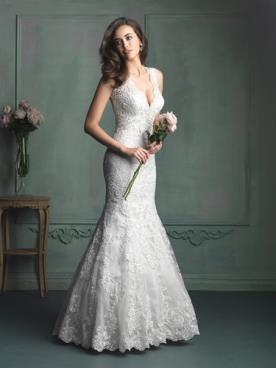 שמלת כלה צמודה בעיצוב אלגנטי