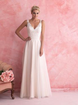 שמלת כלה בגזרת A רומנטית