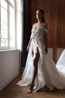 שמלת כלה שני חלקים טופ מחוזר