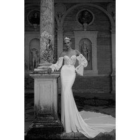 שמלת כלה רומנטית עם שרוול רחב