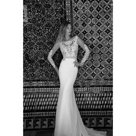 שמלת כלה מודרנית עם גב פתוח