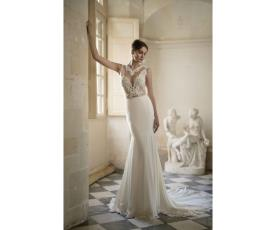 שמלת כלה שיפון עם טופ תחרה