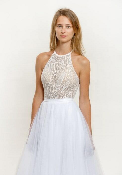 שמלת כלה בלי שרוולים