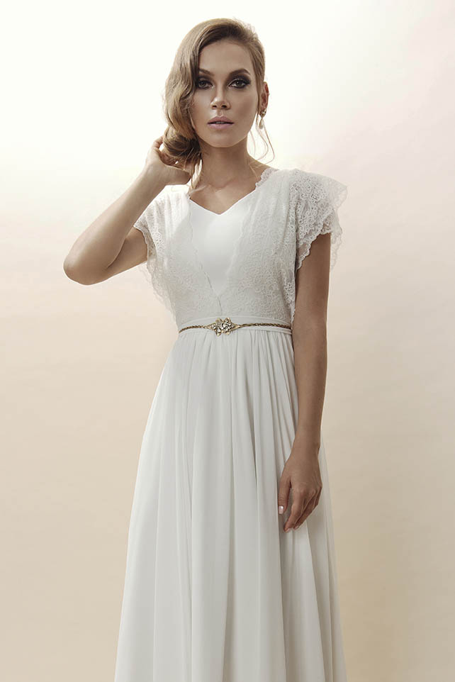 שמלת כלה רומנטית בסגנון עדין