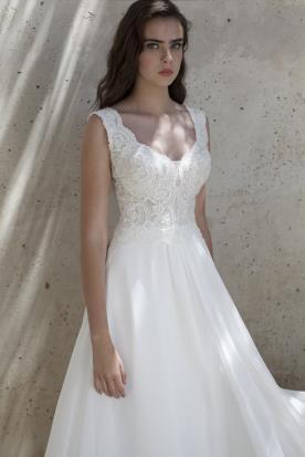 שמלת כלה קלאסית ללא שרוולים