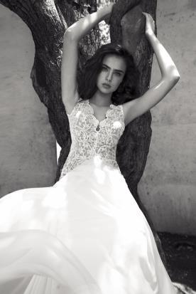 שמלת כלה בעיצוב פרטני של מיקה