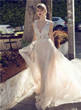 שמלת כלה טול בתחתית