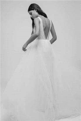 שמלת כלה משולבת טול