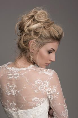 שמלת כלה בדגם A עם אלמנט תחרה