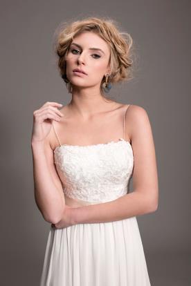 שמלת כלה עם כתפיות דקיקות