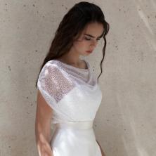 שמלת כלה עם טול מנוקד