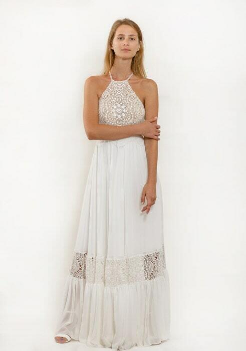 שמלת כלה עם צווארון קולר