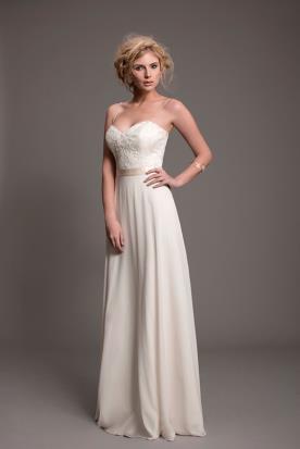 שמלת כלה סטרפלס למראה דרמטי ומושך
