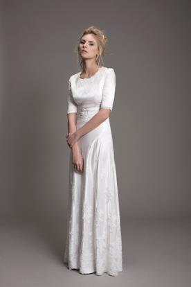 שמלת כלה צנועה לערב קסום