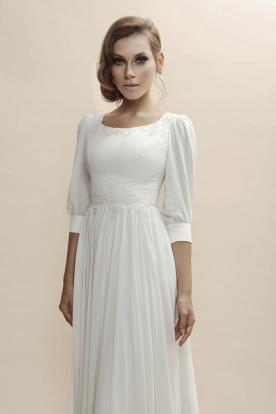 שמלת כלה במראה צנוע