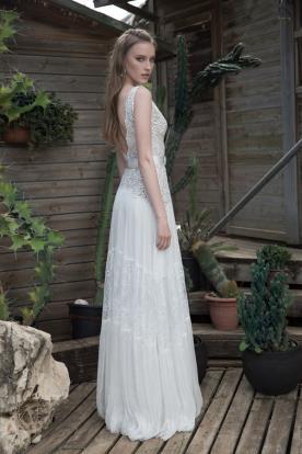 שמלת כלה עדינה חצאית שיפון