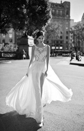 שמלת כלה מתחרה ושיפון