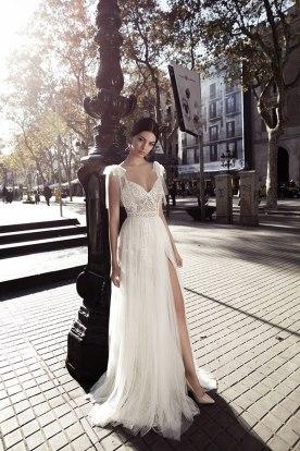 שמלת כלה טול בכתפיות