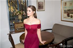 שמלת ערב סטרפלס רומנטית