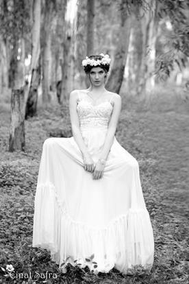 שמלת כלה תחרה חצאית רומנטית