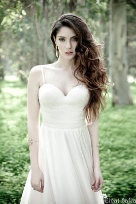 שמלת כלה חצאית שיפון