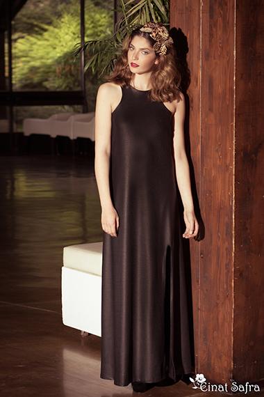 שמלת ערב חלקה עדינה