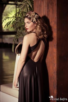 שמלת ערב עדינה גב פתוח איקסים