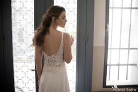 שמלת כלה גב פתוח בסגנון קלאסי