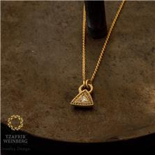 שרשרת זהב ותליון משובץ יהלומים