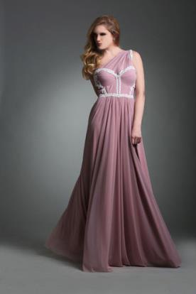 שמלת ערב וורודה רומנטית