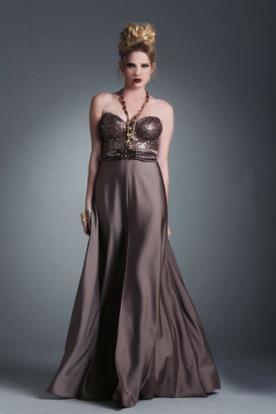 שמלת ערב חציל מטאלי