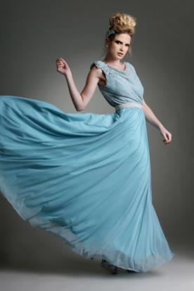 שמלת ערב רומנטית אוורירית