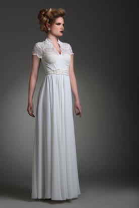 שמלת כלה מקסי בסגנון וינטאג שיק