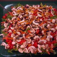פטריות בתערובת ירקות