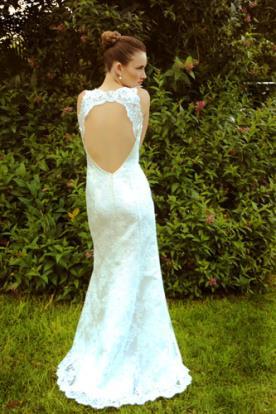 שמלת כלה גב חשוף תחרה