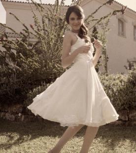 שמלת כלה מיני רחבה רומנטית