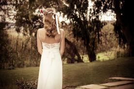 שמלת כלה עדינה רומנטית פפיון