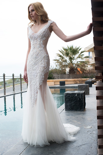 שמלת כלה תחרה מיוחדת עשירה