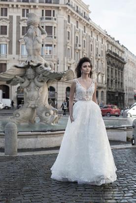 שמלת כלה שני חלקים רומנטית