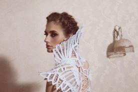 שמלת כלה גב מעוצב נועז