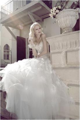שמלת כלה קצפת עשירה